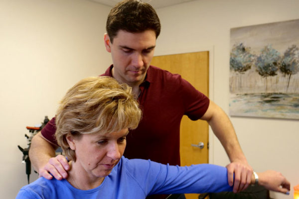 Chiropractor Dr Riley Neuro-Emotional Technique to remove neurological imbalances at Needham MA office near Boston